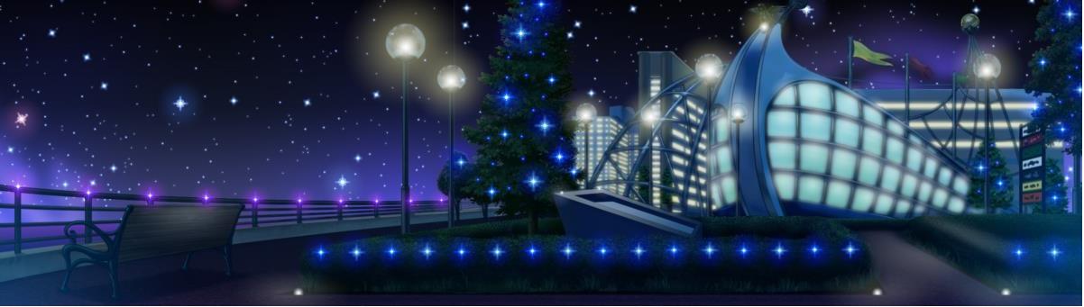 臨海パーク・展示場前夜景